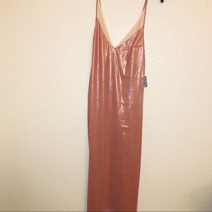 5e92890429c2 Free People Intimates & Sleepwear - FREE PEOPLE ANYTIME SHINE SHEER PINK  SLIP
